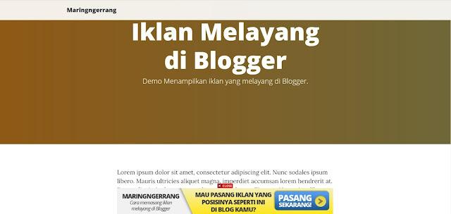 Memasang Iklan Adsense Melayang di Blogger