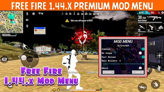 Free Fire 1.44.x VIP Mod Menu Apk [No Recoil, Ghost, Rain Bullets]