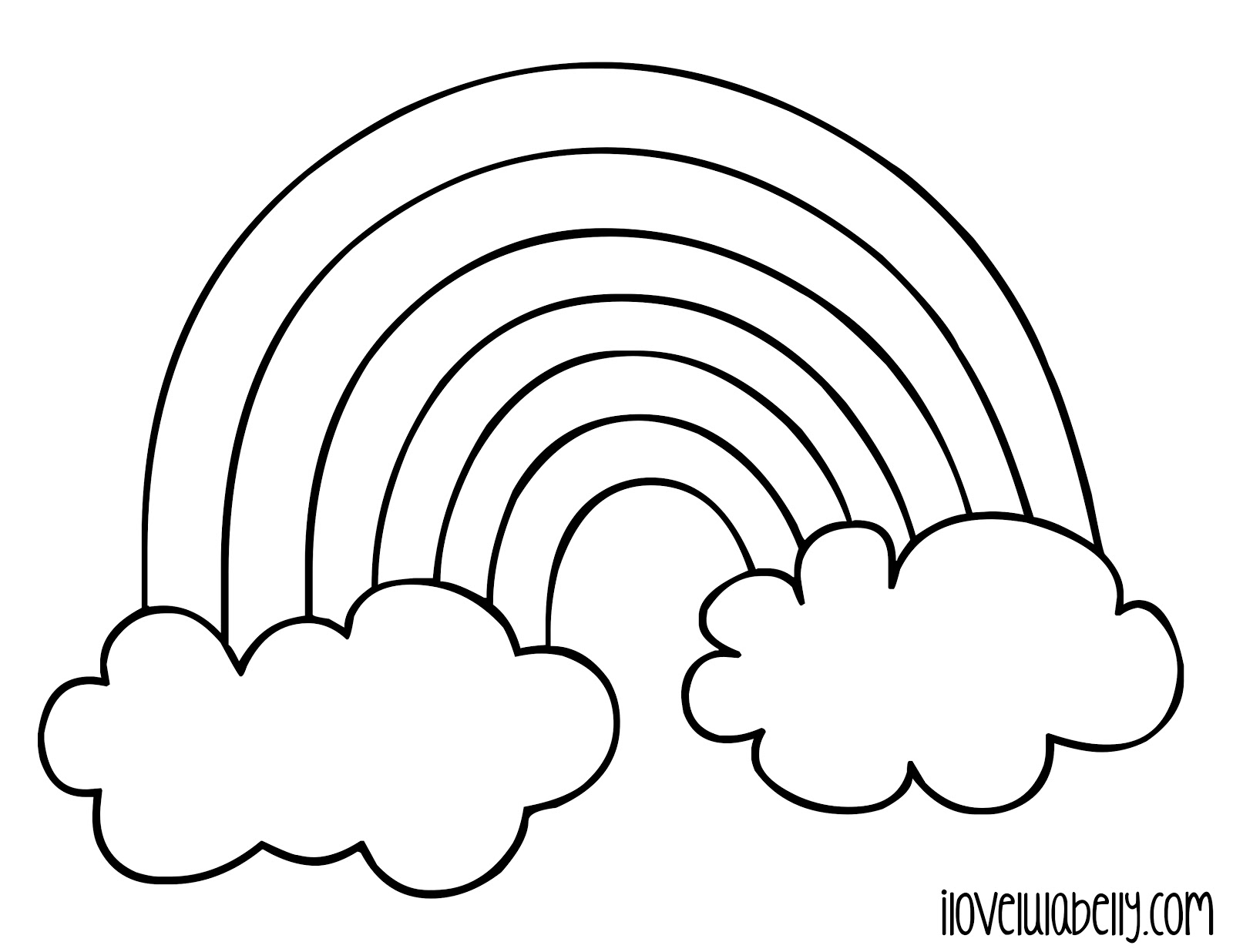 Blank rainbow color page coloring page for Coloring page rainbow