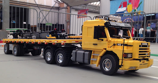 Truck T19 Yellow with Trailer Tr10 in Yellow
