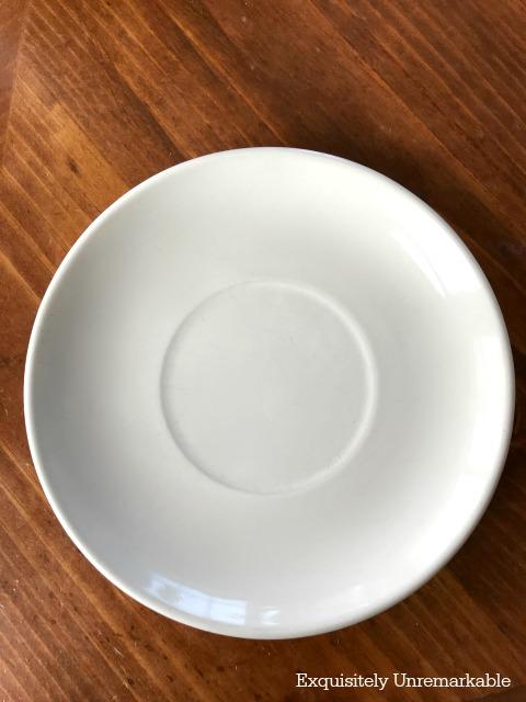 Clean white plate