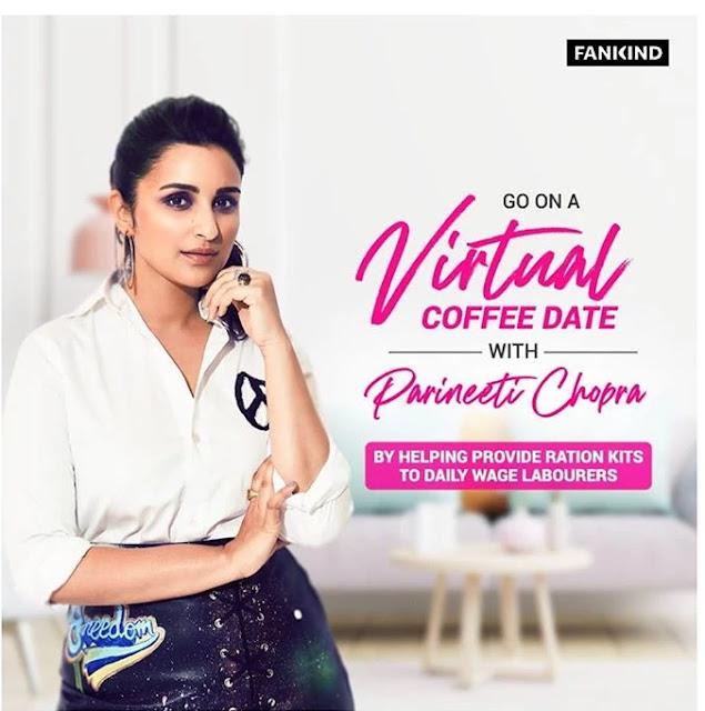 virtual coffee date parineeti, virtual coffee date, daily way earners, GIVEINDIA, LATEST BOLLYWOOD NEWS, bollywood news, bollywood actress images