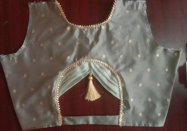 latkan blouse design