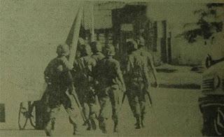 Imagen del operativo del secuestro, publicada por El Litoral.