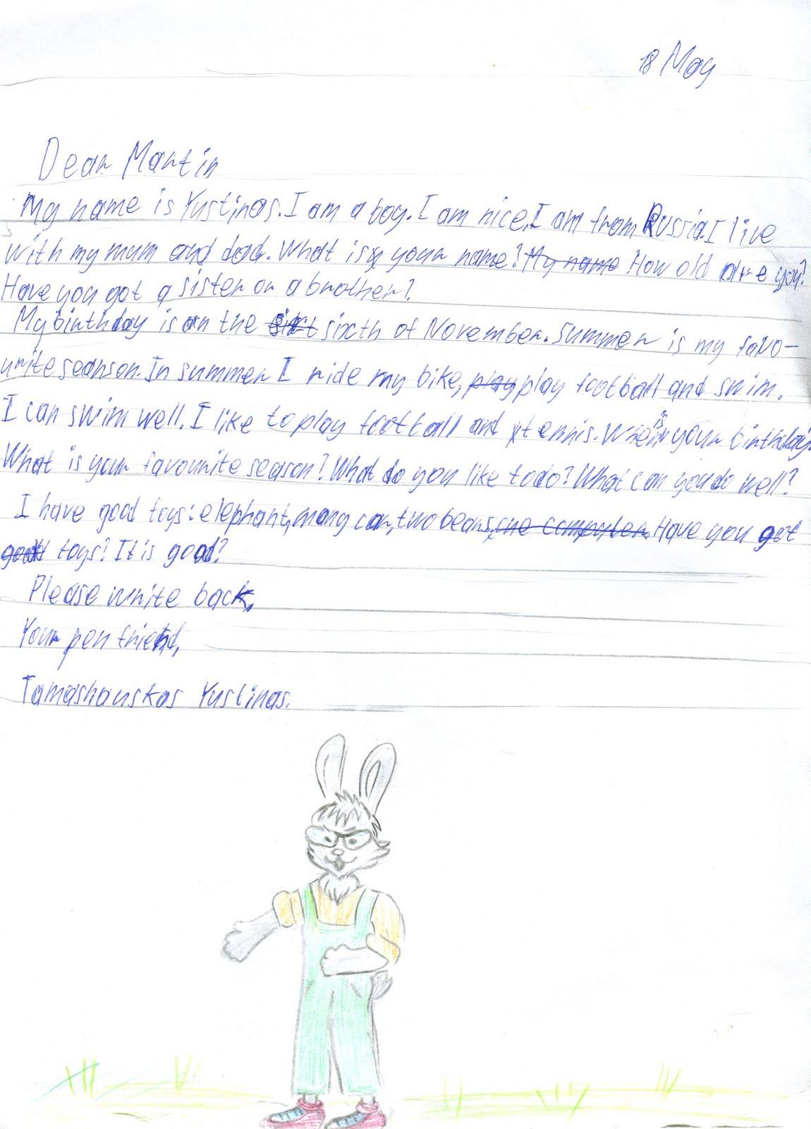 написать учителю гдз письмо
