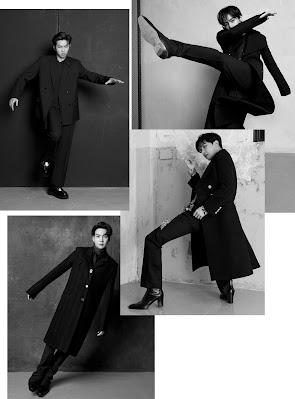 czarno białe zdjęcia - RM, Suga, J-Hope i V robiący nietypowe pozy