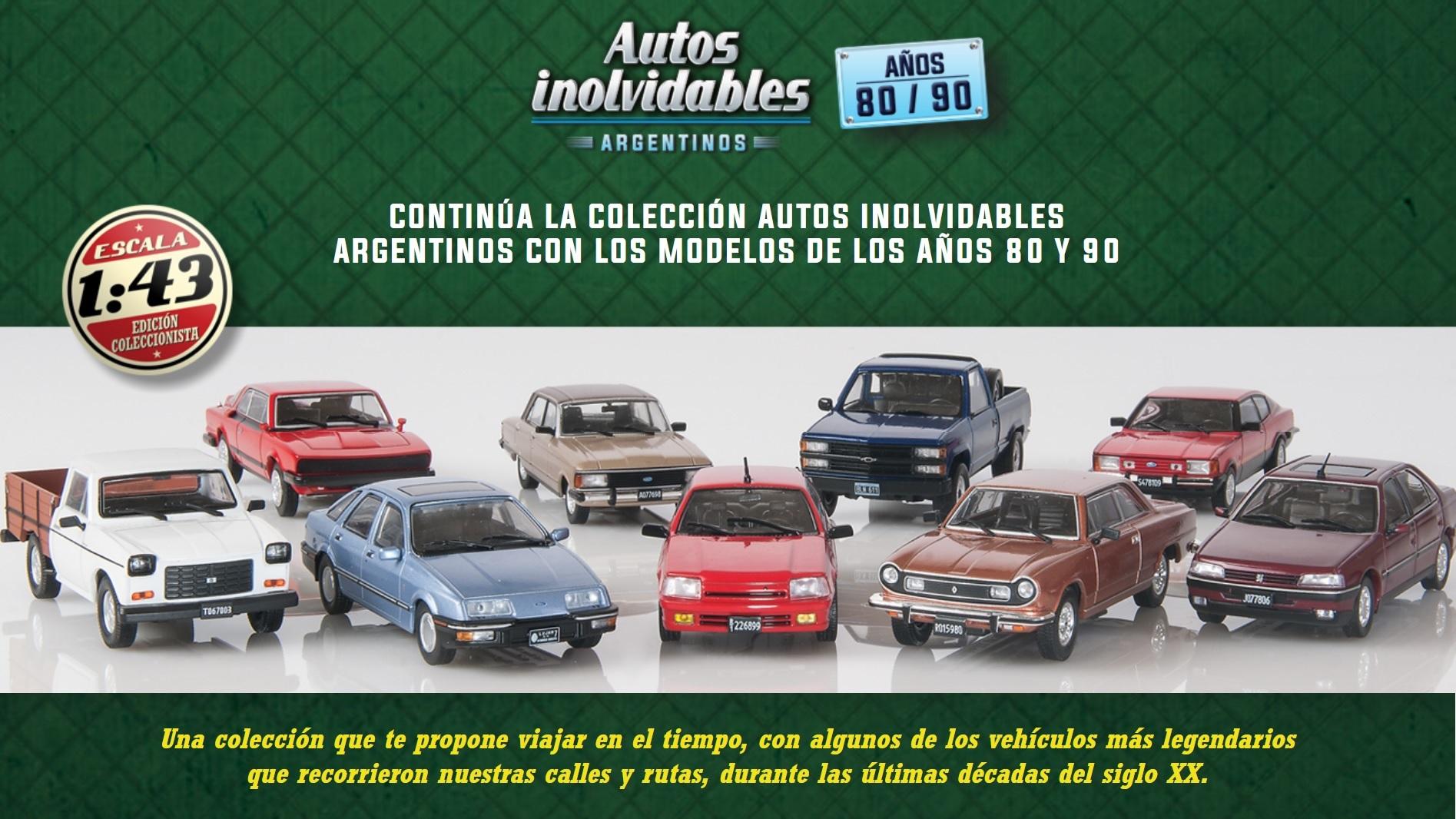 Colección Autos inolvidables argentinos 80 90 salvat