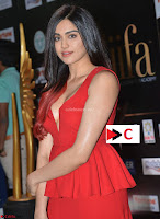 Adah Sharma in Red Deep Neck Spicy Gown ~  Exclusive 12.jpg