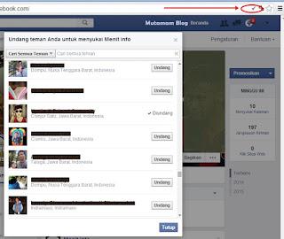 Cara Undang Semua Teman Agar Like Fans Page Facebook Secara Otomatis