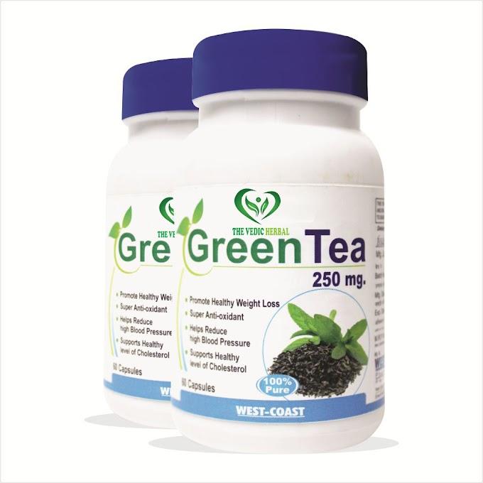 TheVedicHerbal GREEN TEA 60 CAPSULES(PACK OF 2)