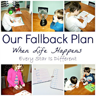 Our Montessori homeschooling fallback plan when life happens.