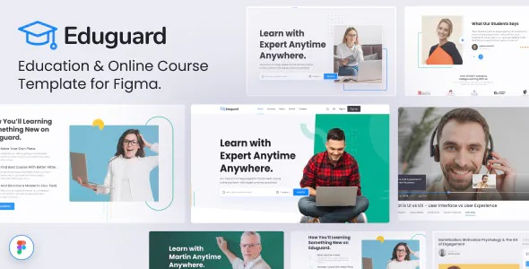 Best Education & Online Course Template for Figma