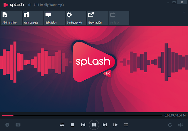 Splash 2.7.0 - Un reproductor de audio y video HD/4K de nueva generación