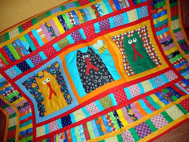 пэчворк квилтинг лоскутное шитье лоскутное одеяло покрывало плед пэчворк одеяло покрывало плед кот коты кошка кошки котенок котята детям детское ребенку мальчику девочке подарки подарок