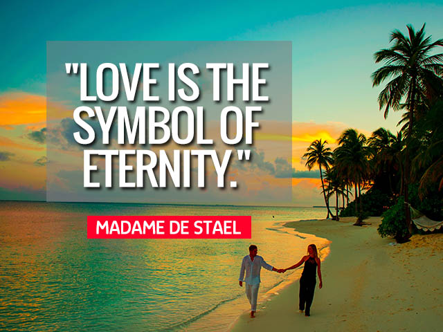 Happy Love Day 2021 Quotes Wishes for Your Valentines-Love is the symbol of eternity.