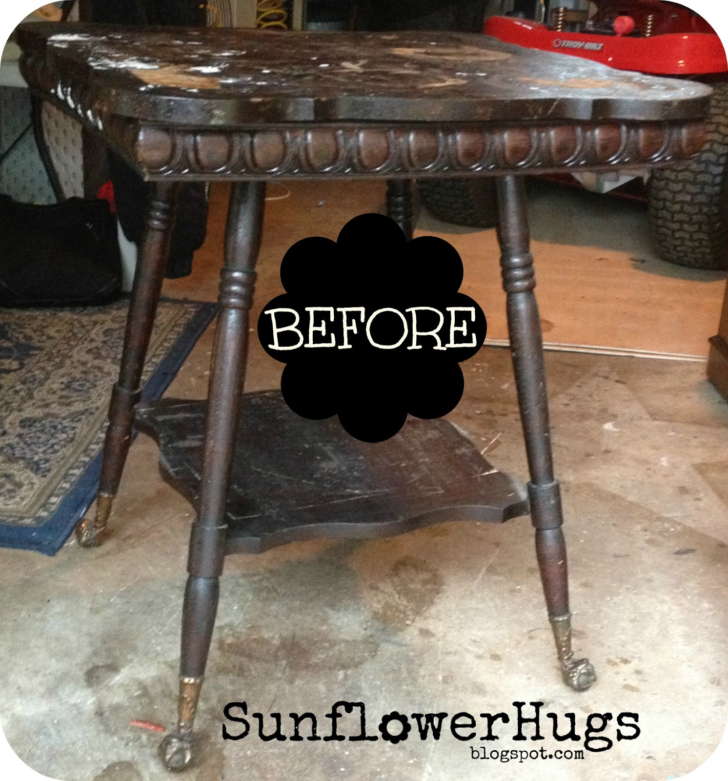 Terrific Sunflowerhugs Claw Foot Table Caraccident5 Cool Chair Designs And Ideas Caraccident5Info