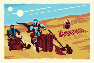 The Mandalorian Chapter Five Star Wars Screen Prints by Dave Perillo x Bottleneck Gallery