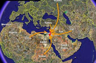 Deus escolherá a Palestina como centro de governo. Israel se situa no centro da terra, e Jerusalém no centro do mundo;