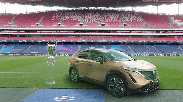Nissan Ariya será mostrado na Final da Liga dos Campeões
