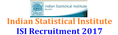 Indian Statistical Institute Recruitment 2017