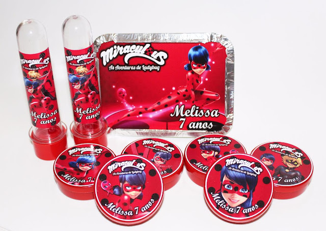 Lembrancinhas Miraculous LadyBug Vermelho