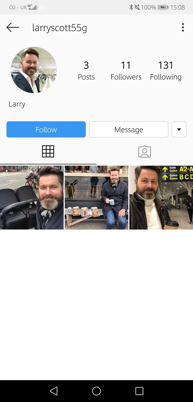 InstaScams: More fake accounts using CAPTAIN THOMAS
