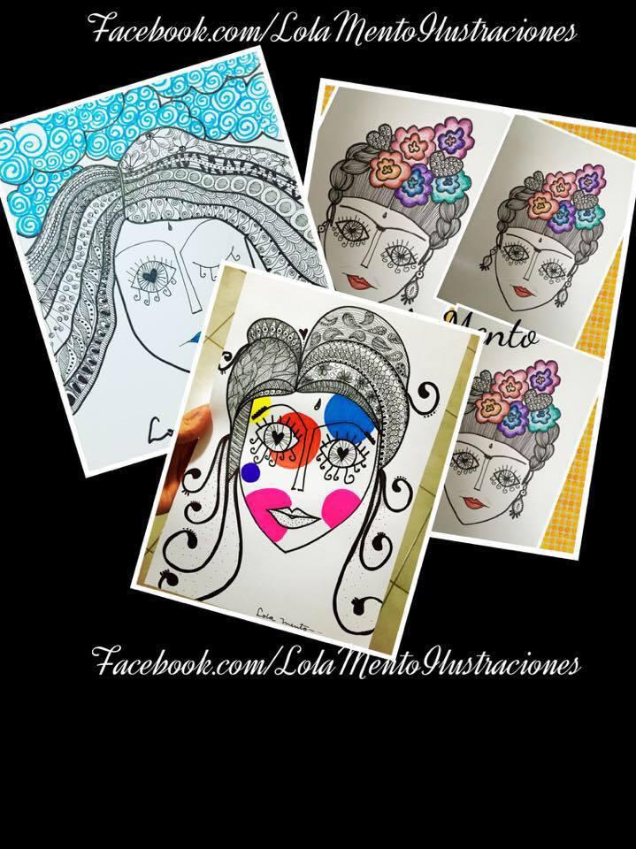 cuadros decorativos, ilustraciones lola mento, lolamento