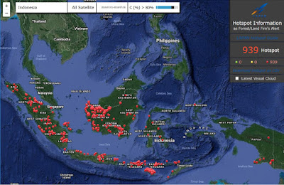Informasi sebaran hotspot online milik Lapan