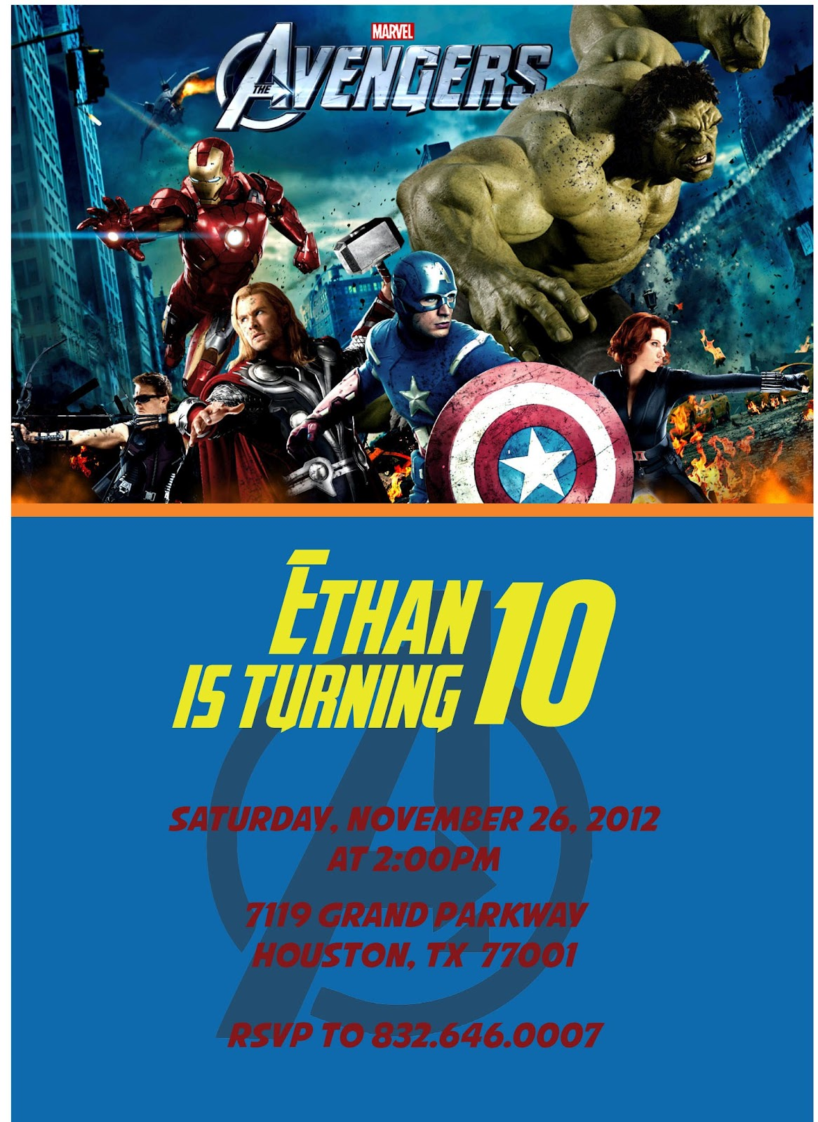 3 Monkeys And More Avengers Birthday Invitations!