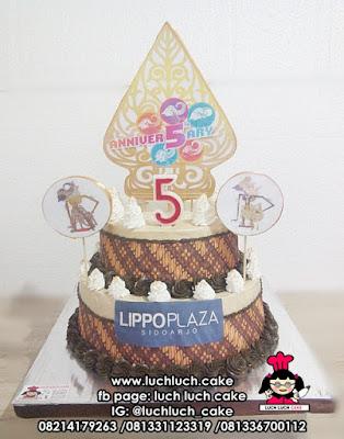 Kue Tart Ulang Tahun Batik dan Wayang - Lippo Plaza Anniversary