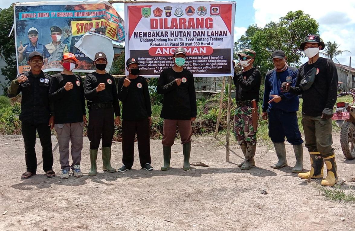 Polsek Sebangau Kuala dan Tim Terpadu Bersinergi Melakukan Patroli Terpadu Pencegahan Karhutla