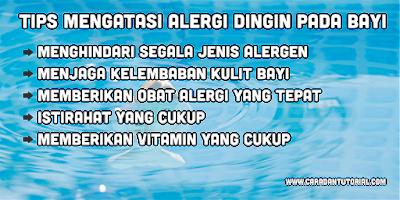 Tips Mengatasi Alergi Dingin Bayi