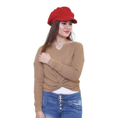 Sweater Rajut Wanita Catenzo ZM 102