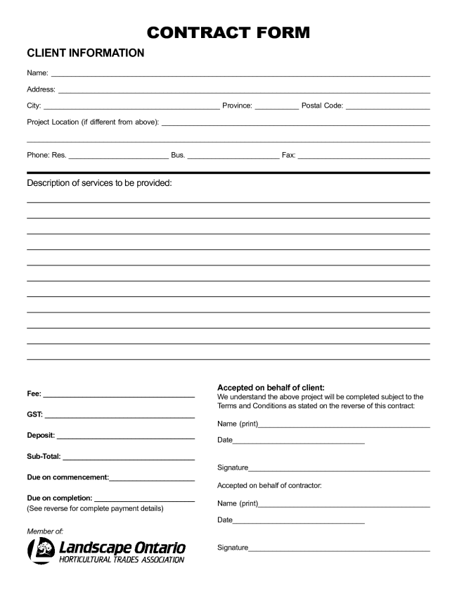 simple contract agreement templates