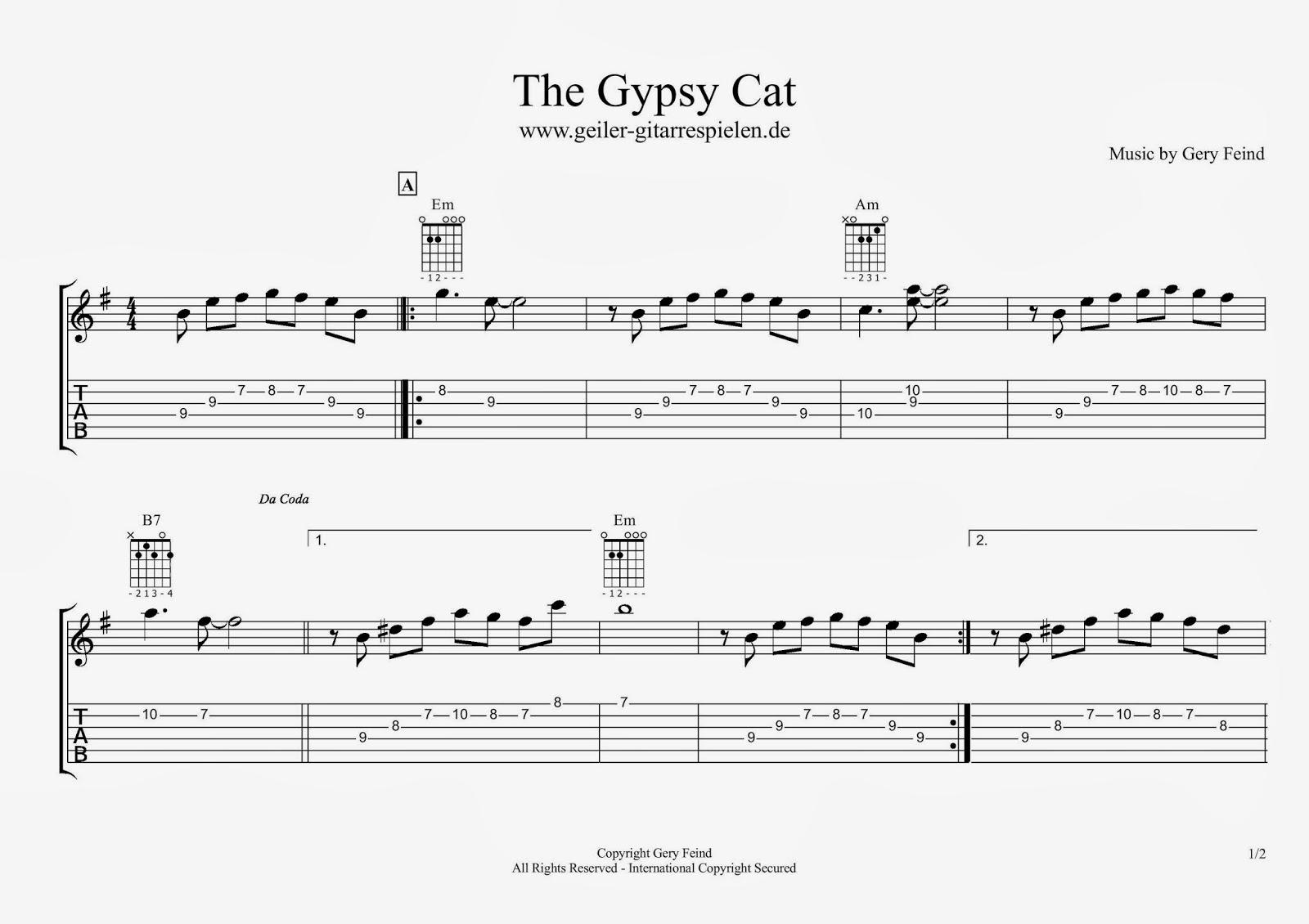 Gypsy-Blues Melodie | Einfach geiler Gitarre spielen!