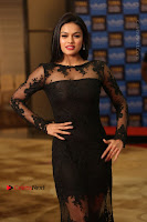 Actress Soniya Stills in Beautiful Black Long Dress at SIIMA Short Film Awards 2017 .COM 0025.JPG