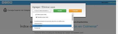 Cambiar usos en IndexARQ