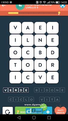 WordBrain 2 soluzioni: Categoria Riciclaggio (4X5) Livello 5