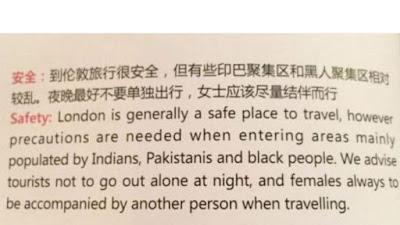 Extracto del artículo de Wings of China que causó indignación en el Reino Unido.