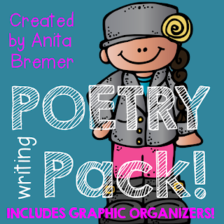 Poetry Writing activities that teach students how to write 10 different types of poems. Includes graphic organizers, writing page templates, sample poems, and more.