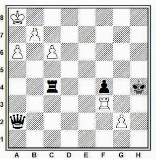 Estudio artístico de ajedrez compuesto por G. M. Kasparyan (1985)