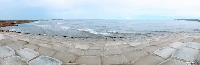 新竹旅遊景點|南寮漁港魚鱗天梯-吹風看海踩沙灘