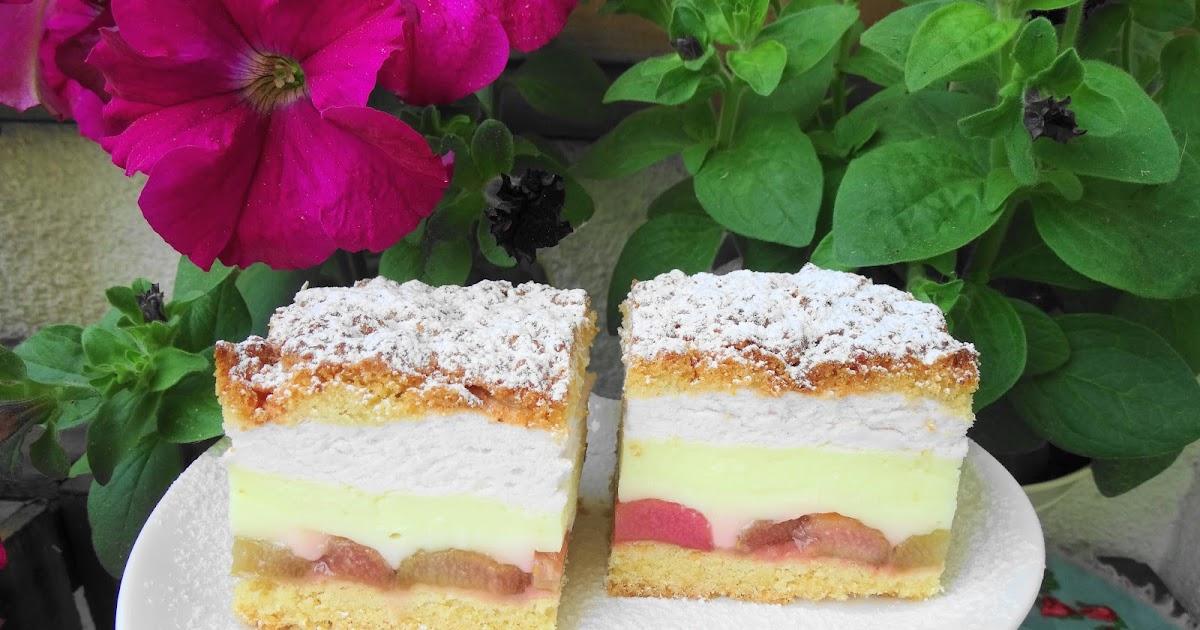 Słodko Słodka: Ciasto Kruche Z Rabarbarem I Budyniem