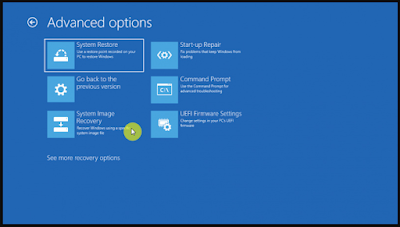 Cara Restore System Image Windows 10