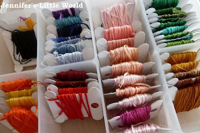Embroidery silk stash