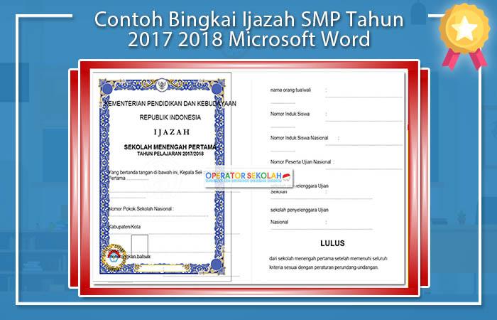 Contoh Bingkai Ijazah SMP Tahun 2019 2020 Microsoft Word