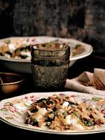 bulgur con espinacas y queso de cabra