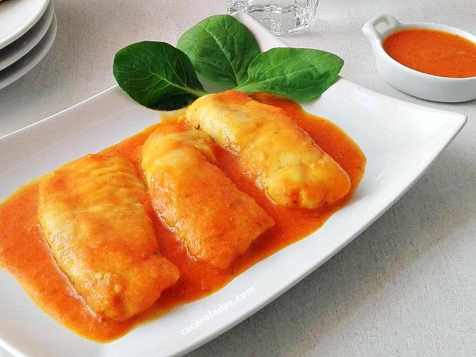 ventresca de merluza en salsa