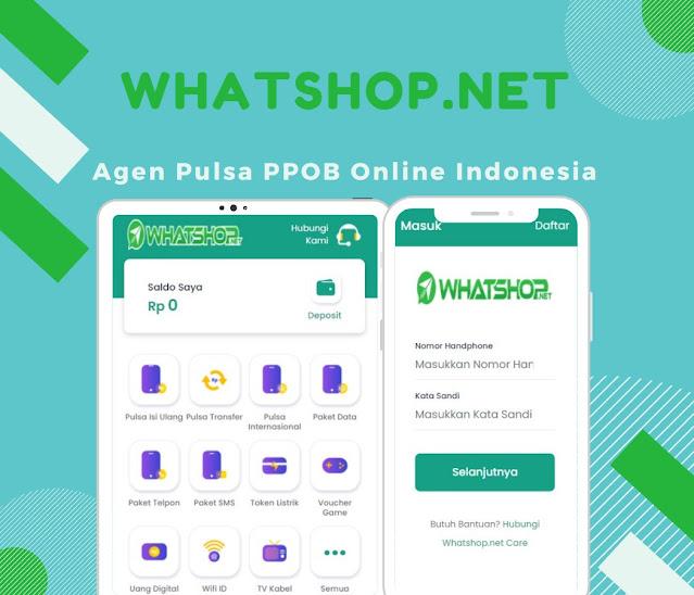 Whatshop.net Agen Pulsa PPOB Online Indonesia