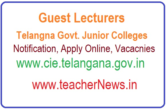 Guest Lecturers in Telangana Govt. Junior Colleges | Apply Online for Vacancies @cie.telangana.gov.in